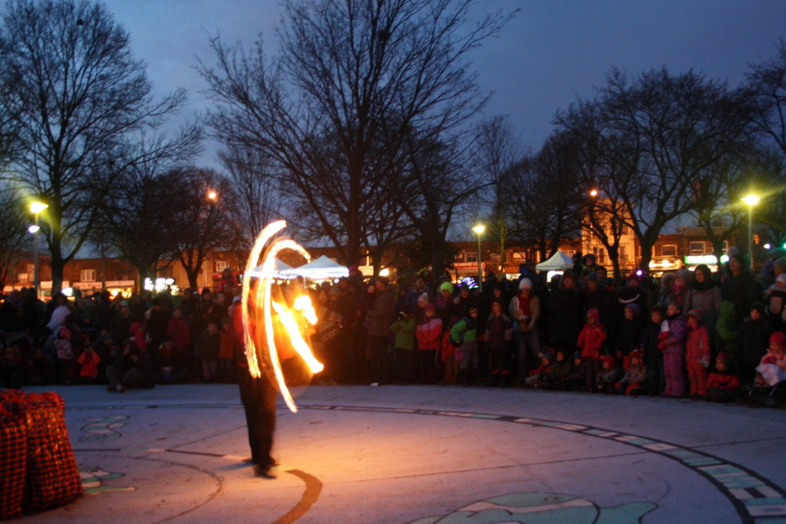 Zero Gravity Circus Fire Artist wowing the crowds.