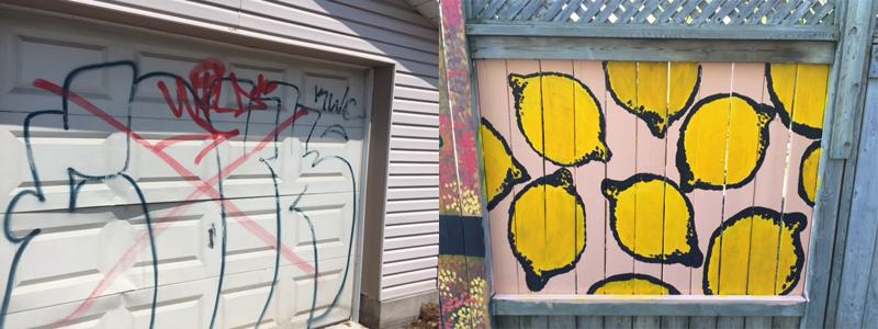 Graffiti-to-mural