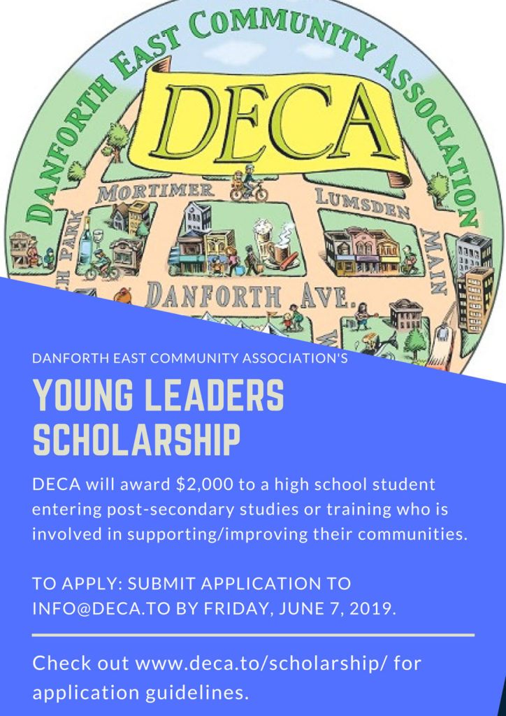 Poster with illustration for young leaders scholarship 2019