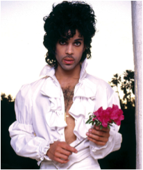Prince holding flowers